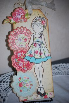 My Julie Nutting Doll Stamp Gift Tag |Made by Lynn