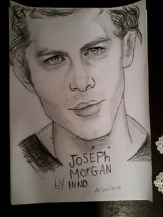 Joseph morgan By Hind rekrouk - Painting by Hindoucha Rekrouk in My Diary at touchtalent 74098