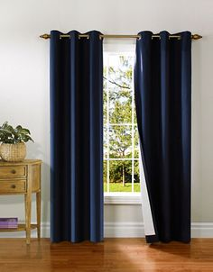 Home Studio Pack of 2 Canvas Window Panels - Navy - Size 84 inches Home Depot, Canada, Window Panels, Home Studio, Furniture Decor, Ceiling Fan, Kitchen Remodel, Home Improvement, Windows