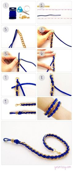 DIY Jewelry & Crafts Suede Woven Chain Bracelet DIY: 1 yard of Suede Lace or Leather - 14 inc Suede Bracelet, Woven Bracelets, Diy Bracelet, Crochet Bracelet, Bracelet Photo, Summer Bracelets, Diamond Bracelets, Pearl Bracelet, Bracelet Making
