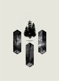 """Pillars Of Creation"" - Personal poster design"