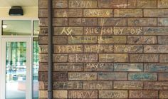 For an arcane and crude remnant of Peoria history, the writing is on the wall.