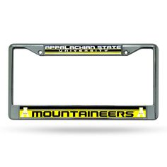 Appalachian State Mountaineers NCAA Chrome License Plate Frame