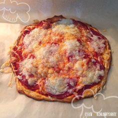 Einfache Low-Carb Pizza (ohne Mehl) - Essen ohne Kohlenhydrate - Düşük karbonhidrat yemekleri - Las recetas más prácticas y fáciles Keto Food List, Food Lists, Law Carb, Diet Recipes, Healthy Recipes, Low Carb Pizza, Paleo Pizza, Low Carb Burger, Breakfast