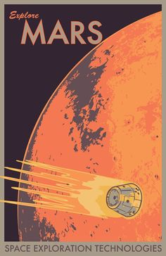 Explore Mars Retro Classic Planet Outer Space Gem Art Silk Cloth Poster Home Wall Decor Kunst Poster, Poster S, Poster Prints, Art Print, Posters Decor, Room Posters, Space Posters, Movie Posters, Planet Poster