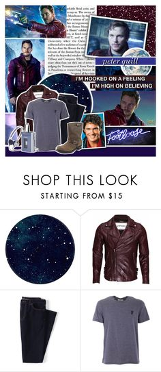 """""""Peter Quill aka Star Lord // GOTG"""" by evil-laugh ❤ liked on Polyvore featuring Lands' End, Versace, Frye, men's fashion, menswear and botmadcr1"""