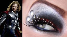 Thor inspired eye makeup