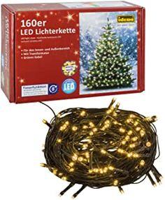 Idena 8325062 - LED Lichterkette mit 160 LED in warm weiß mit 8 Stunden Timer Funktion für Partys Weihnachten Deko Hochzeit als Stimmungslicht ca. 239 m - 7.66 - 4.3 von 5 Sternen - Lichterkette Herbst 2019