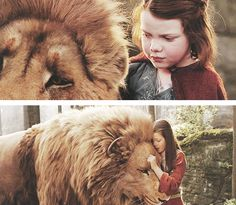 "Oh God, may I have faith to see you, just like Lucy did of Aslan. Because like it's said, ""I brought you to Narnia so that by knowing me here for a little while, you would know me better there."""