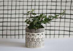 Trece Cylinder vase ceramic cache-pot container by KinskaShop