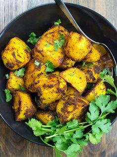 Irish Bombay Potatoes - The Best Curried Potatoes in the World - bombay potatoes ready to eat #Bombay #basil | hurrythefoodup.com