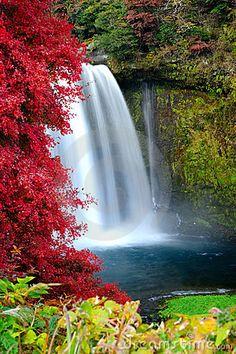 Otodome Falls, 5 minutes from Shiraito Falls, Fuji-Hakone-Izu National Park Japan.