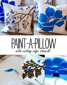 Gorgeous tutorial! Paint-a-pillow-cutting-edge-stencils @it all started with paint