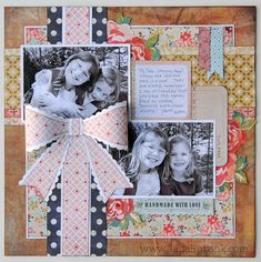 Pretty page made with Basic Grey's Lucille Collection....I especially love that big bow.