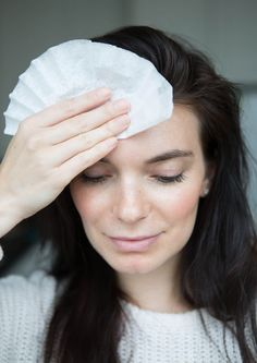 Blot your face with a coffee filter! They're made out of similar ingredients as blotting papers, so stash a few in your purse if it's hot out and pat yourself down when you need to reduce shine.