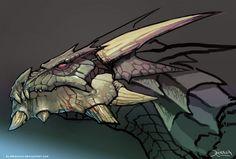 Dragon head by el-grimlock.deviantart.com on @deviantART