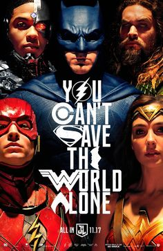 This new and rather clever poster for JUSTICE LEAGUE.