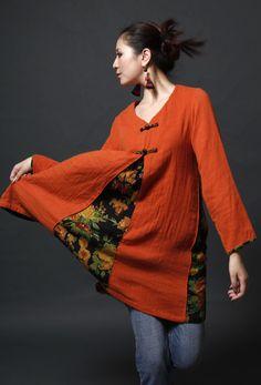 Women Fashion Blouse Shirt Beautiful Blouse Women Top by MissLinen, $59.00