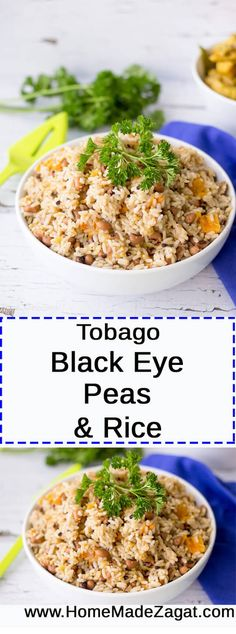"""A one-pot """"cook up"""" of rice and black eye peas, that is traditionally made in the Caribbean for Old Years (New Year's Eve). Can be cooked with ham bone and pigtail for meat options."""