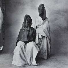 Goulimine Guedra dancers, Morocco 1950s    Photographer: Irving Penn, USA