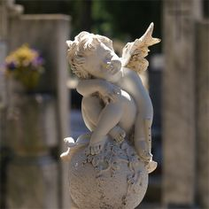'' Little Angel '' Dragan Todorovic photography Angels Among Us, Angels And Demons, Cemetery Angels, I Believe In Angels, Ange Demon, Garden Angels, Angel Statues, Angel Art, Tattoo Ideas