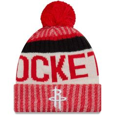 e733d937b27 Houston Rockets New Era Sport Pom Cuffed Knit Hat – Red
