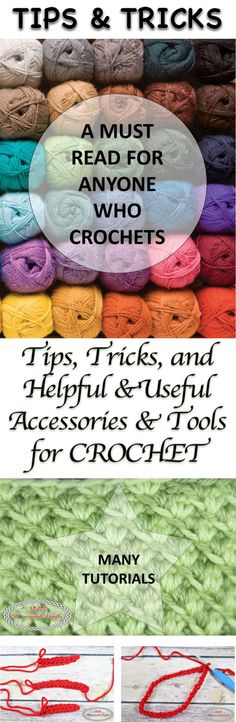 Tips, Tricks and helpful and useful accessories and tools for crochet - Collection made by Nicki's Homemade Crafts
