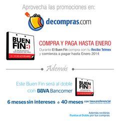 ¿Ya conoces nuestras promociones? Visítanos > www.Decompras.com