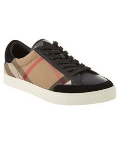 Burberry Burberry Reynold House Check & Leather Trainer