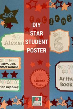 I love this idea for creating a Star Student Poster that can be updated weekly for each student effortlessly on your part and still looks cute in June! New Classroom, Classroom Design, Book Organization, Classroom Organization, Fourth Grade, Second Grade, Back To School 2017, Student Of The Week, Self Esteem Activities