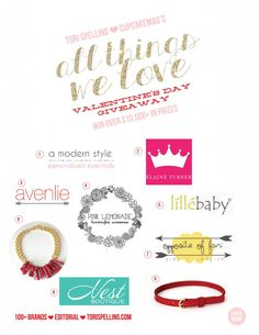 We've partnered with Tori Spelling and CupcakeMAG for a fabulous GIVEAWAY: All Things We Love!