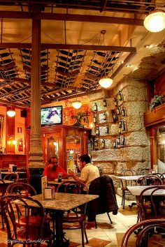 Inside the bar Museo de Vino, Madrid, Spain.