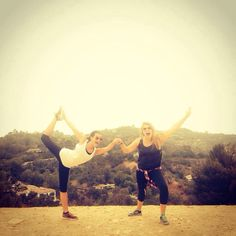 Lea Michele with a friend