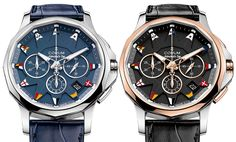 """Corum Admiral Legend 42 Watches - by Richard Cantley - More on these nautical piece at: aBlogtoWatch.com - """"Though Corum has done some interesting work with their Bridge collection throughout the years, it is the Admiral's Cup that marks the brand's strongest and most recognizable design language. For 2016, Corum has released the Corum Admiral Legend 42 Auto and Admiral Legend 42 Chronograph watches that serve as a great counterpart to some of their more unusual pieces..."""""""