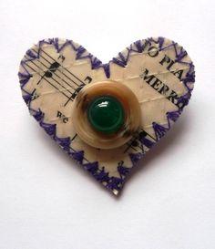 'Clajs' Heart brooch, £12  Saturdays at Greenwich Market