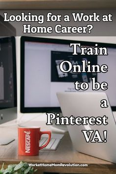 Train Online to be a Pinterest VA! Looking for a Work at Home Career? Consider becoming a Pinterest VA! Train online for this lucrative home-based career! Learn from the professionals how you can become a Pinterest VA and earn a high income from home! Awesome online training with the best! #Moms #Jobs #WorkatHome