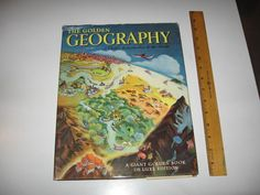 The Golden Geography - A Child's Introduction to the World - Werner - 1952 w/map