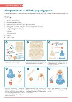 "Niezapominajka ""strażniczka przyrody"" - instrukcja Kindergarten Art, Tempera, Map, Comics, Location Map, Maps, Cartoons, Comic, Comics And Cartoons"