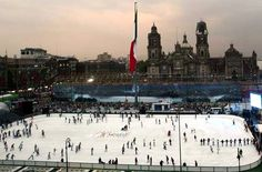 Mexico City... Worlds Largest Outdoor Rink!