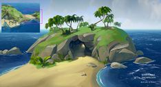 ArtStation - Sea of Thieves - Key Art and environment designs, Davide Fabrizzi Game Environment, Environment Design, Sea Of Thieves, Keys Art, Game Background, Survival, Backgrounds Free, Environmental Art, Game Design