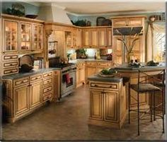 Dark Stain Base Cabinets And Mix Of Color Upper Kitchen Cabinets Home Depot Kitchen Cabinet