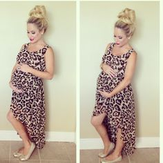 Sassy hi-low maternity dress for summer date nights.