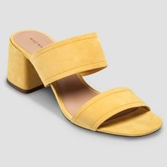 5d4420c378b6 You ll look effortlessly chic in these Women s Who What Wear™ Carolina  Double Band Block Heel Slide Sandals. This versatile pair will get you from  the.