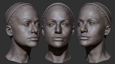 Josie Head Scan, Sculpt and Reference Photography Por Picture Jeffrey Ian Wilson