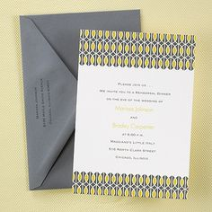Yellow and Grey Wedding Ideas - Modern Moments - Invitation (Invitation Link - http://occasionsinprint.carlsoncraft.com/Weddings/Rehearsal-Dinner/3088-AA20899-Modern-Moments--Invitation.pro)