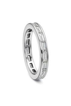 Precision Set Baguette Diamond Eternity Band available at Oster Jewelers #mydiamondstyle #mybridalstyle