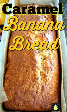 Caramel Banana Bread. Add nuts like I did or leave them out. Either way it's delicious! Banana Bread Recipie, Best Banana Bread, Banana Recipes, Bread Recipes, Oven Recipes, Easy Recipes, Recipies, Easy No Bake Desserts, Delicious Desserts