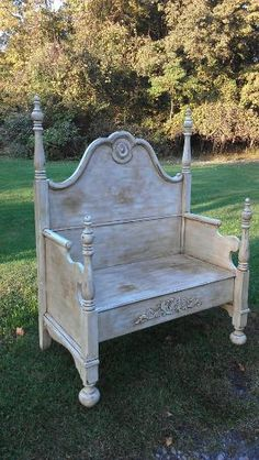 PainTed BeNch, ShaBBy ChiC BeNch, CoTTaGe StYle BenCh, BeD BeNch