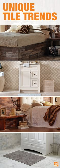 Make a statement in your kitchen or bath with the latest in wall tile trends. Add a unique focal point with white tile, wood tile, and ceramic tile. Explore all the tile options that offer a chic and on-trend look while also staying in budget. Click through to find the right tile at The Home Depot.