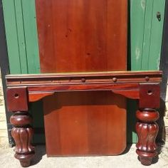 8ft vintage antique mahogany snooker dining table